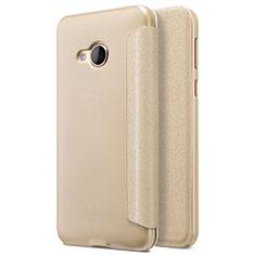 Cover Portafoglio In Pelle con Supporto per HTC U Play Oro