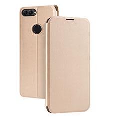 Cover Portafoglio In Pelle con Supporto per Huawei Enjoy 7S Oro