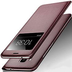 Cover Portafoglio In Pelle con Supporto per Huawei G9 Plus Marrone