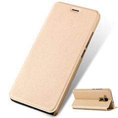 Cover Portafoglio In Pelle con Supporto per Huawei GT3 Oro