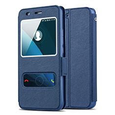 Cover Portafoglio In Pelle con Supporto per Huawei Honor 4A Blu