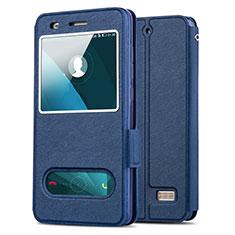 Cover Portafoglio In Pelle con Supporto per Huawei Honor 4C Blu