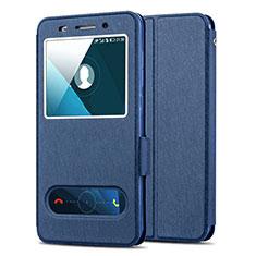 Cover Portafoglio In Pelle con Supporto per Huawei Honor 4X Blu