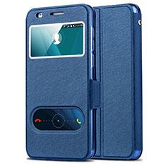 Cover Portafoglio In Pelle con Supporto per Huawei Honor 6 Blu