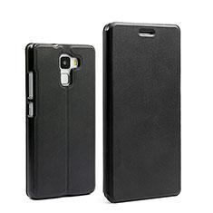 Cover Portafoglio In Pelle con Supporto per Huawei Honor 7 Nero