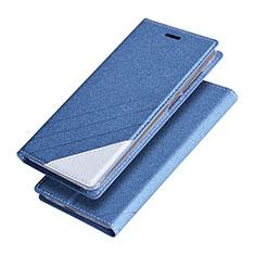 Cover Portafoglio In Pelle con Supporto per Huawei Honor V9 Blu