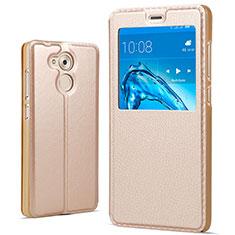 Cover Portafoglio In Pelle con Supporto per Huawei Honor V9 Play Oro