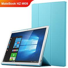 Cover Portafoglio In Pelle con Supporto per Huawei MateBook HZ-W09 Blu