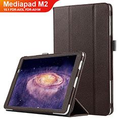 Cover Portafoglio In Pelle con Supporto per Huawei MediaPad M2 10.1 FDR-A03L FDR-A01W Marrone