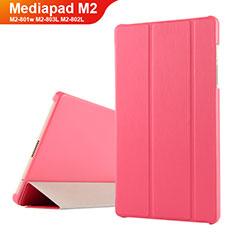 Cover Portafoglio In Pelle con Supporto per Huawei Mediapad M2 8 M2-801w M2-803L M2-802L Rosso