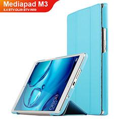 Cover Portafoglio In Pelle con Supporto per Huawei Mediapad M3 8.4 BTV-DL09 BTV-W09 Ciano