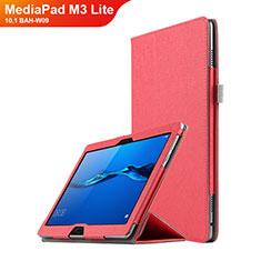 Cover Portafoglio In Pelle con Supporto per Huawei MediaPad M3 Lite 10.1 BAH-W09 Rosso