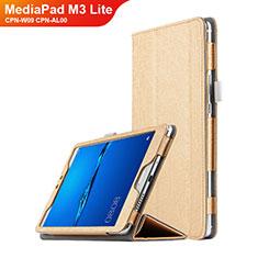 Cover Portafoglio In Pelle con Supporto per Huawei MediaPad M3 Lite 8.0 CPN-W09 CPN-AL00 Oro