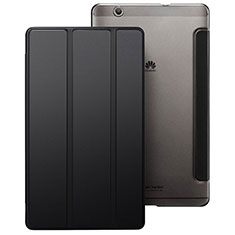 Cover Portafoglio In Pelle con Supporto per Huawei MediaPad M3 Nero