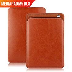 Cover Portafoglio In Pelle con Supporto per Huawei MediaPad M5 10.8 Marrone