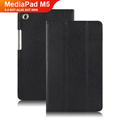 Cover Portafoglio In Pelle con Supporto per Huawei MediaPad M5 8.4 SHT-AL09 SHT-W09 Nero