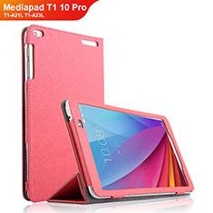 Cover Portafoglio In Pelle con Supporto per Huawei Mediapad T1 10 Pro T1-A21L T1-A23L Rosa Caldo