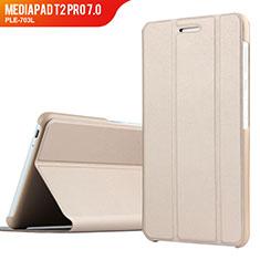 Cover Portafoglio In Pelle con Supporto per Huawei MediaPad T2 Pro 7.0 PLE-703L Oro