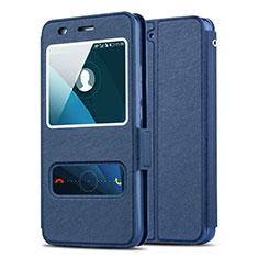 Cover Portafoglio In Pelle con Supporto per Huawei Y6 Blu