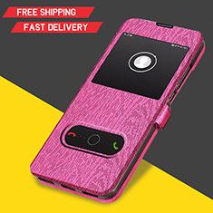 Cover Portafoglio In Pelle con Supporto per Huawei Y6s Rosa Caldo