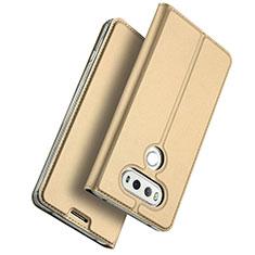 Cover Portafoglio In Pelle con Supporto per LG G6 Oro