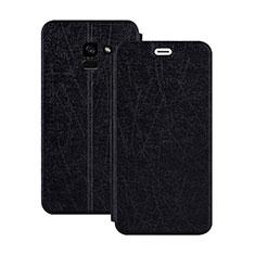 Cover Portafoglio In Pelle con Supporto per Samsung Galaxy A5 (2018) A530F Nero