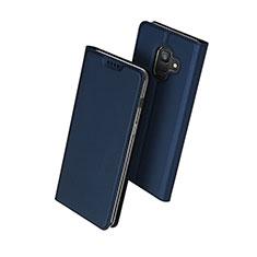 Cover Portafoglio In Pelle con Supporto per Samsung Galaxy A6 (2018) Dual SIM Blu