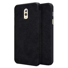 Cover Portafoglio In Pelle con Supporto per Samsung Galaxy J7 Plus Nero