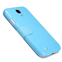 Cover Portafoglio In Pelle con Supporto per Samsung Galaxy S4 IV Advance i9500 Blu