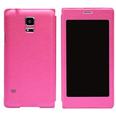 Cover Portafoglio In Pelle con Supporto per Samsung Galaxy S5 G900F G903F Rosa Caldo