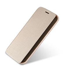 Cover Portafoglio In Pelle con Supporto per Samsung Galaxy S6 Edge SM-G925 Oro