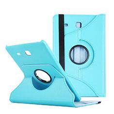 Cover Portafoglio In Pelle con Supporto per Samsung Galaxy Tab E 9.6 T560 T561 Blu