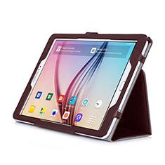 Cover Portafoglio In Pelle con Supporto per Samsung Galaxy Tab S2 9.7 SM-T810 SM-T815 Marrone