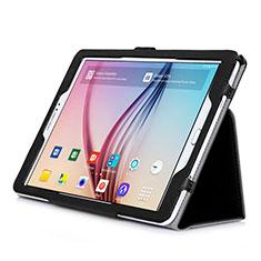 Cover Portafoglio In Pelle con Supporto per Samsung Galaxy Tab S2 9.7 SM-T810 SM-T815 Nero