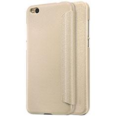 Cover Portafoglio In Pelle con Supporto per Xiaomi Mi 5C Oro