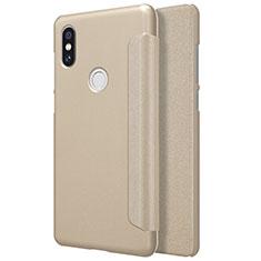Cover Portafoglio In Pelle con Supporto per Xiaomi Mi Mix 2S Oro