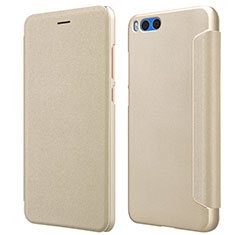 Cover Portafoglio In Pelle con Supporto per Xiaomi Mi Note 3 Oro