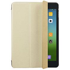 Cover Portafoglio In Pelle con Supporto per Xiaomi Mi Pad 3 Oro