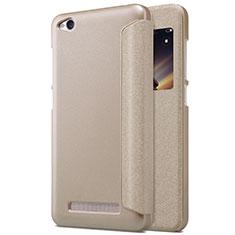 Cover Portafoglio In Pelle con Supporto per Xiaomi Redmi 4A Oro