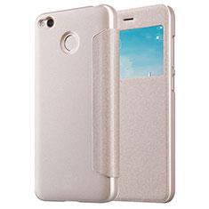 Cover Portafoglio In Pelle con Supporto per Xiaomi Redmi 4X Oro