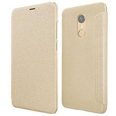 Cover Portafoglio In Pelle con Supporto per Xiaomi Redmi 5 Oro