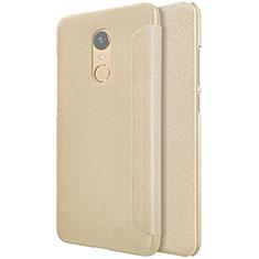 Cover Portafoglio In Pelle con Supporto per Xiaomi Redmi 5 Plus Oro