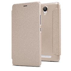 Cover Portafoglio In Pelle con Supporto per Xiaomi Redmi Note 2 Oro