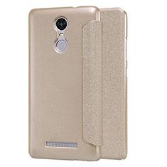 Cover Portafoglio In Pelle con Supporto per Xiaomi Redmi Note 3 Oro
