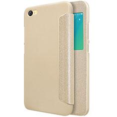 Cover Portafoglio In Pelle con Supporto per Xiaomi Redmi Note 5A Standard Edition Oro
