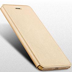 Cover Portafoglio In Pelle con Supporto R01 per Huawei Honor 8 Lite Oro
