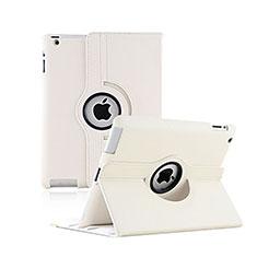 Cover Portafoglio In Pelle con Supporto Rotazione per Apple iPad 2 Bianco