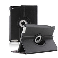 Cover Portafoglio In Pelle con Supporto Rotazione per Apple iPad 2 Nero
