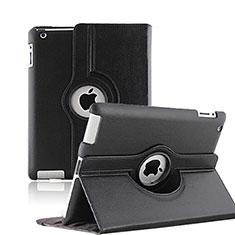 Cover Portafoglio In Pelle con Supporto Rotazione per Apple iPad 3 Nero