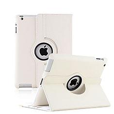 Cover Portafoglio In Pelle con Supporto Rotazione per Apple iPad 4 Bianco